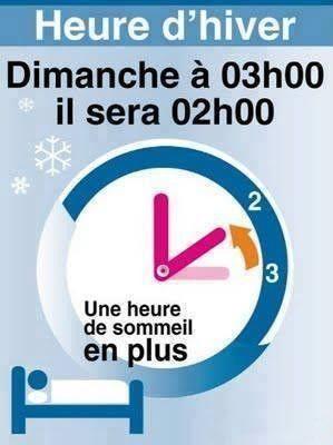 n'oubliez pas le changement de montre!!!!