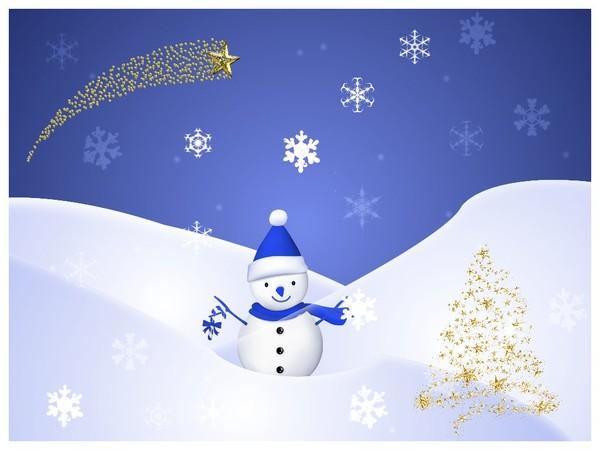 bonhomme de neige en bleu et or. Black Bedroom Furniture Sets. Home Design Ideas